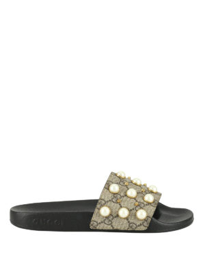 Gucci: Loafers & Slippers - Pursuit embellished slippers