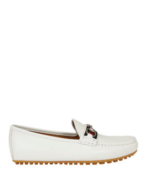 Gucci: Loafers & Slippers - Web and Horsebit leather loafers