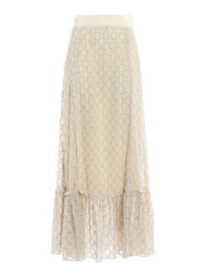 Gucci: Long skirts - GG macrame lined long skirt