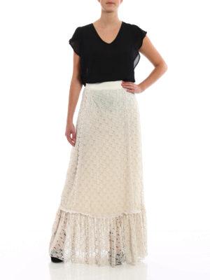 Gucci: Long skirts online - GG macrame lined long skirt