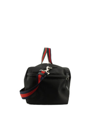Gucci: Luggage & Travel bags online - Web details canvas duffle bag