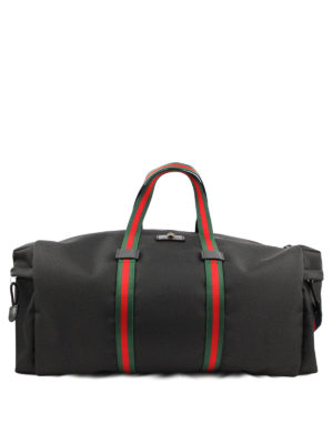 Gucci: Luggage & Travel bags - Web details canvas duffle bag