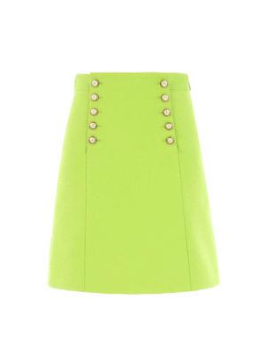 Gucci: mini skirts - Buttoned flap mini skirt