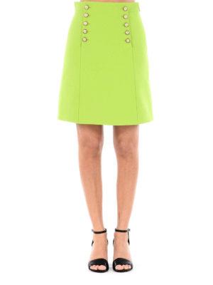 Gucci: mini skirts online - Buttoned flap mini skirt