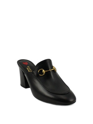 Gucci: mules shoes online - Princetown leather mules