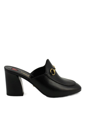 Gucci: mules shoes - Princetown leather mules