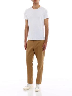 GUCCI: pantaloni casual online - Chino in drill di cotone beige