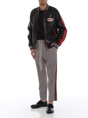 GUCCI: pantaloni casual online - Pantaloni in lana e mohair pied-de-poule