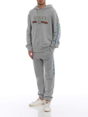 GUCCI: pantaloni casual online - Pantaloni della tuta in cotone con logo