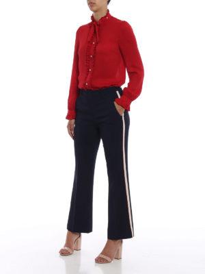 GUCCI: pantaloni casual online - Pantaloni bootcut in viscosa stretch