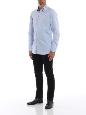 GUCCI: camicie online - Camicia con ricami sul colletto