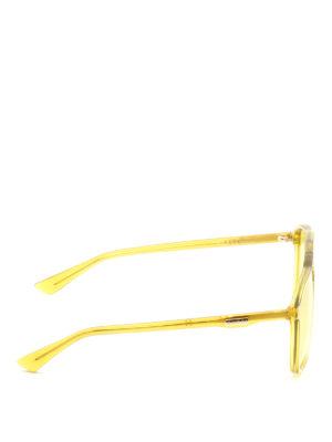 GUCCI: occhiali da sole online - Occhiali da sole squadrati gialli