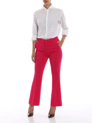 GUCCI: Pantaloni sartoriali online - Pantaloni a zampa fucsia in crepe