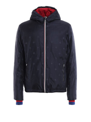 Gucci: padded jackets - Bee and star pattern padded jacket