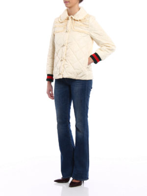 Gucci: padded jackets online - Ruched quilted and padded jacket