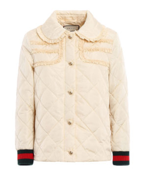 Gucci: padded jackets - Ruched quilted and padded jacket