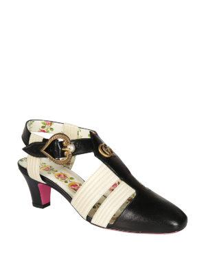 Gucci: sandals online - Leather vintage sandals