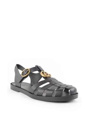 Gucci: sandals online - Tiger detail sandals