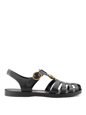 Gucci: sandals - Tiger detail sandals