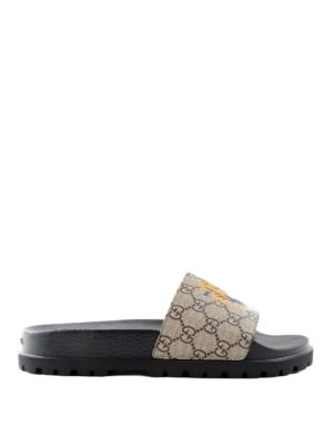 Gucci: sandals - Tiger flat sandals