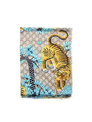 Gucci: scarves - Bengal print fringed foulard