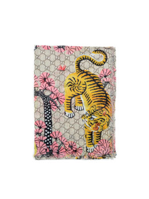 Gucci: scarves - Bengal print fringed foulard