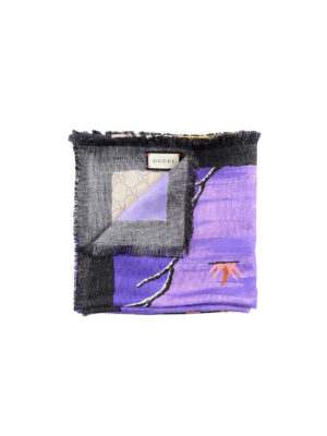 Gucci: scarves - Bengal print silk foulard