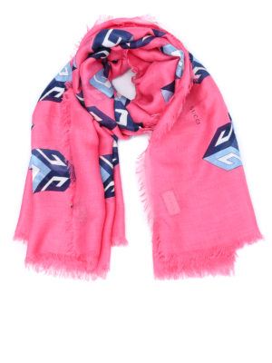 Gucci: scarves - Big Cubo scarf