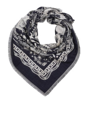 Gucci: scarves - Blind For Love wool and silk scarf