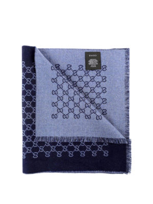 Gucci: scarves - Double jacquard GG wool scarf