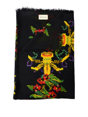 Gucci: scarves - Floral patterned modal silk scarf