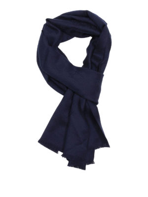 Gucci: scarves - GG cashmere jacquard scarf