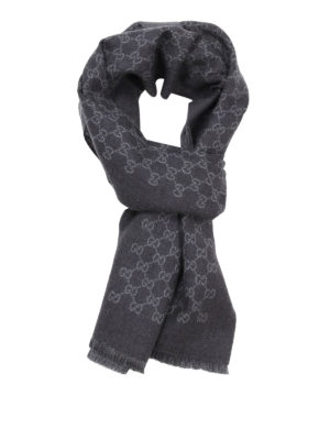 Gucci: scarves - GG wool reversible scarf