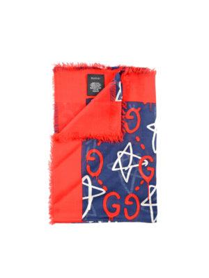 Gucci: scarves - GucciGhost print foulard