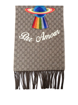 Gucci: scarves - L''Aveugle Par Amour fringed scarf