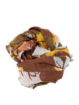 Gucci: scarves - Leaf print scarf