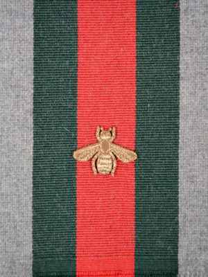 Gucci: scarves online - Bee embroidery wool scarf