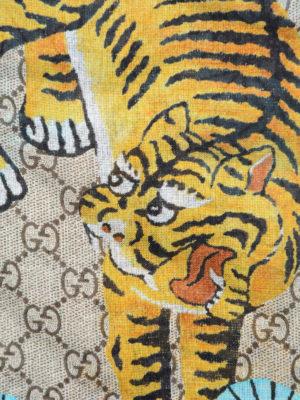 Gucci: scarves online - Bengal print fringed foulard