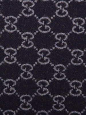 Gucci: scarves online - Double jacquard GG wool scarf
