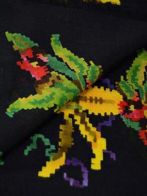 Gucci: scarves online - Floral patterned modal silk scarf