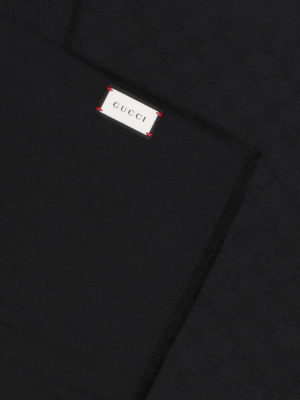 Gucci: scarves online - GG cashmere jacquard scarf