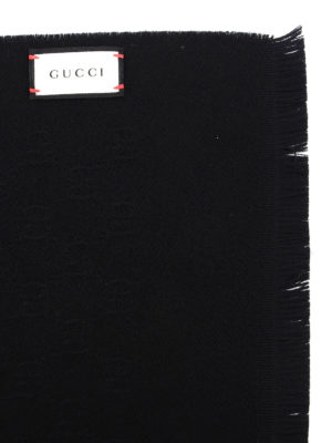 Gucci: scarves online - GG patterned wool scarf