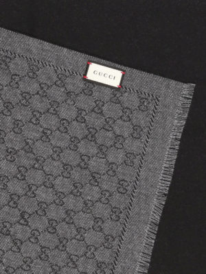 Gucci: scarves online - GG wool reversible scarf