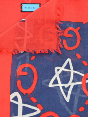Gucci: scarves online - GucciGhost print foulard