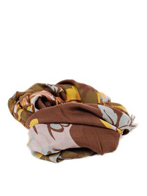Gucci: scarves online - Leaf print scarf