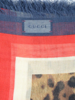 Gucci: scarves online - Sylvie Web animal print foulard
