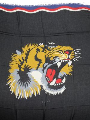 Gucci: scarves online - Tiger print foulard