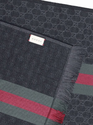 Gucci: scarves online - Web detail GG wool and silk scarf