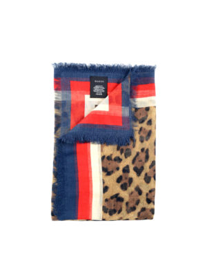 Gucci: scarves - Sylvie Web animal print foulard