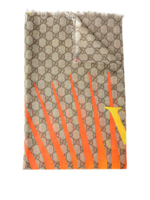 Gucci: scarves - Tiger print modal and silk scarf